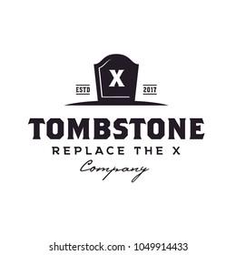 Vintage Tombstone logo design inspiration