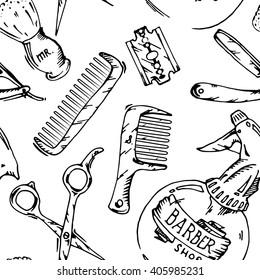 Vintage tools of barber shop