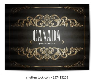 Vintage Touristic Greeting Card -Canada- Vector