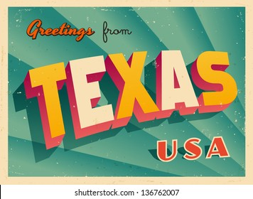 Texas postcard images stock photos vectors shutterstock vintage touristic greeting card vector eps10 grunge effects can be easily removed for a m4hsunfo