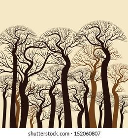 Vintage tree background