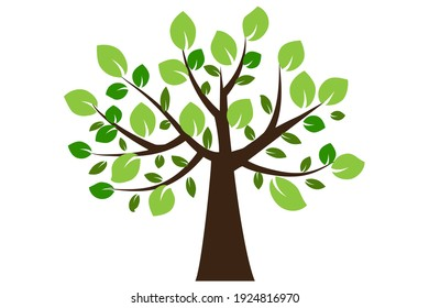 Vintage tree, great design for any purposes. Nature landscape. Vector drawing. Stock image. EPS 10.