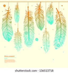 Vintage Tribal Feathers