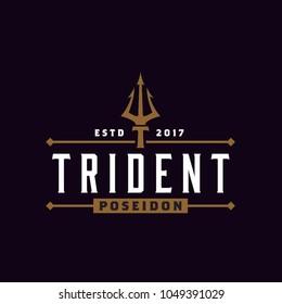 Vintage Trident logo design  inspiration
