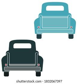 Vintage Truck Tailgate Vector Illustrations on White