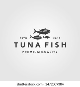 vintage tuna fish logo label seafood designs