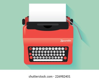 vintage typewriter vector/illustration