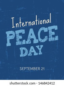 Vintage typographic design for the International Day of Peace.