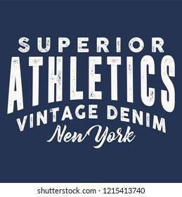 vintage varsity athletic typography vector illustration