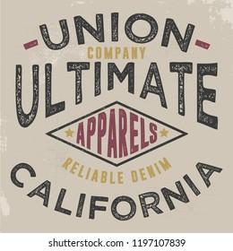 vintage varsity typography vector illustration