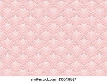 Vintage Vector Art Deco Seamless Pattern. Geometric decorative texture. Vector floral background.