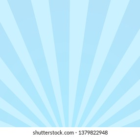 Vintage vector background with abstract graphic pattern, Radial sunburst rays blue color, EPS10.