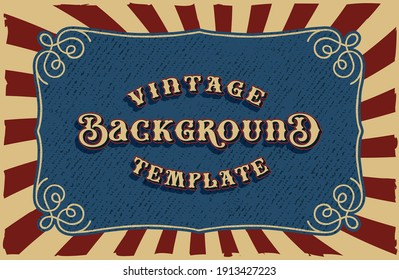 A vintage vector background, all elements are in separate groups.