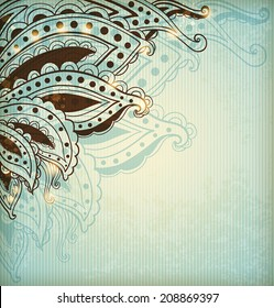 Vintage vector background with ethnic ornament
