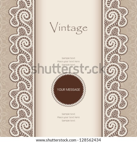 c15b47d146 Vintage Vector Background Lace Seamless Borders Stock Vector ...