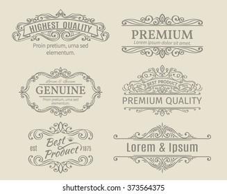 Vintage Vector Banners Labels Frames Calligraphic Design Elements