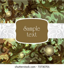 Vintage vector brown background