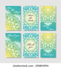 vector set card templates use save stock vector royalty free
