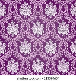 Vintage Vector Damask Floral Brocade Tapestry Wallpaper Background Pattern
