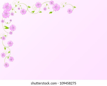 Vintage vector floral frame with flowers