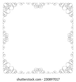 Vintage Vector Frame Border Divider Corner Retro Elements Collection Page Decor