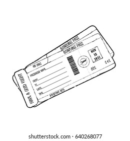 Vintage vector illustration - Airline boarding pass ticket design