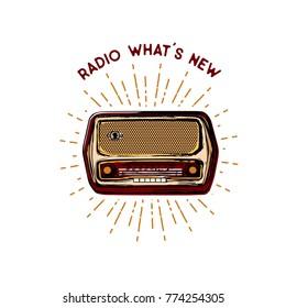 Vintage vector illustration - Old radio