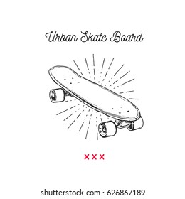 Vintage vector illustration - Skateboarding t-shirt design. Urban Skateboard