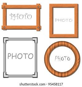 Vintage vector photo frames illustration