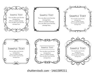 Vintage vector Set. Floral elements for design of monograms, invitations, frames, menus, labels and websites. Graphic elements for design of catalogs and brochures of cafes, boutiques