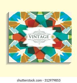 Vintage Vector Technology Brochure , Cover, Flyer, Report , Leaflet Design Template, Poster or Layout Magazine Design.