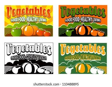 vintage vegetable labels