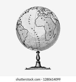 Vintage Victorian style atlas engraving vector