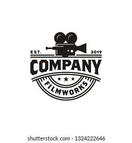 Vintage Video Camera Logo design for movie / cinema production