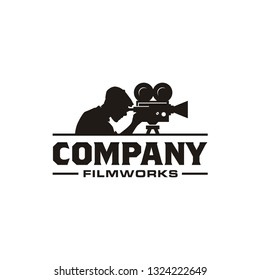 Vintage Video Camera Logo design for movie / cinema production