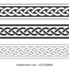 Vintage viking borders set, vector intage illustration