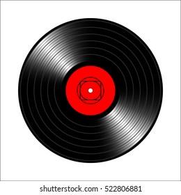 Vintage vinyl record. Vector illustration for flyer, banner, billboard