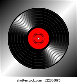 Vintage vinyl record. Vector illustration for flyer, banner, billboard