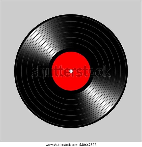 Vintage Vinyl Record Vector Illustration Flyer Stock Vector (Royalty