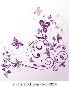 Vintage violet border