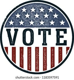 Vintage Vote USA Button
