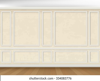 Vintage wall decorated panel mouldings in classic style