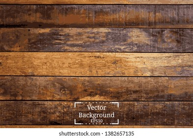 vintage wall of wooden planks style. background old panels. vector trace wood texture illustration.