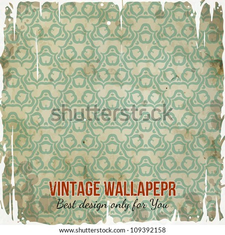 Vintage Wallpaper Shabby Background Classy Patterns Stock Vector