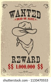 vintage wanted poster template old paper stock vector royalty free