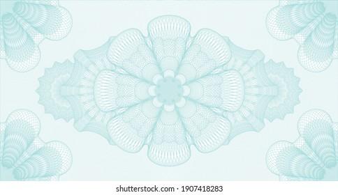 Vintage watermark. Pattern money. Intense illustration. Complex design.