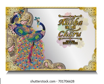 Hindu Wedding Card Images Stock Photos Vectors Shutterstock