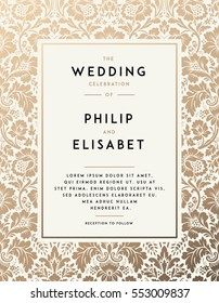 Vintage Wedding Invitation Background Images, Stock Photos & Vectors ...