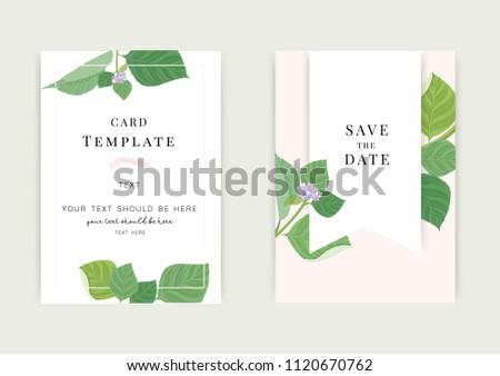 Vintage Wedding Invitation Templates Cover Design Stock Vektorgrafik