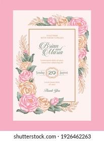 Vintage wedding invitation - Vector